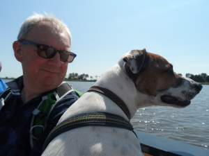 Kipper loved his first boat trip!