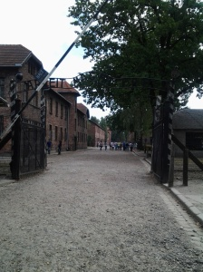 The iconic and ironic entrance to Auschwitz I