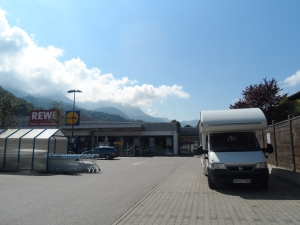 Brian outside Lidl in Berchtesgaden, Germany