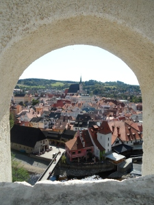 Cesky Krumlov from the Cloak Bridge