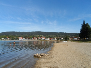 Looking towards the marina at Lipno nad Vlatavou