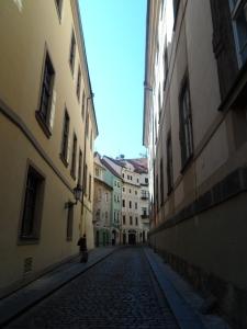 A rare quiet street!