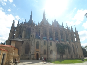 The Cathedral of St Barbara is as beautiful on the outside as on the inside