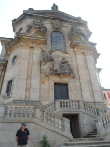 The monumental entrance to the Church of the Holy Trinity