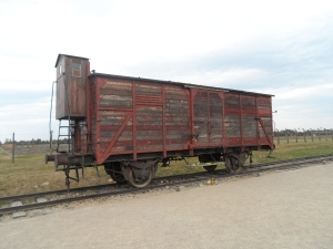 A cattle truck of the type used to transport millions of people to their dreadful fate