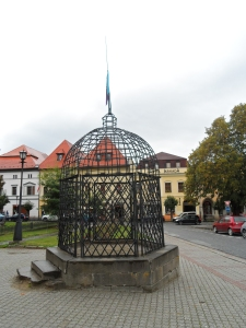 The 'cage of shame' for public humiliation of 17th c miscreants