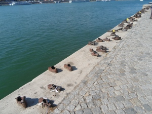 Part of the moving memorial remembering those shot into the Danube during the Hungarian Holocaust