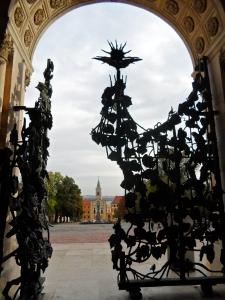 The old Basilica has beautiful modern gates