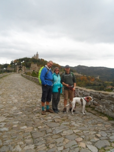 David, Carol, Graham and Kips at the fortress