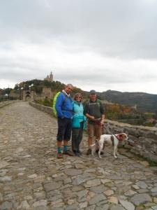 David, Carol, Graham and Kips at the fortress